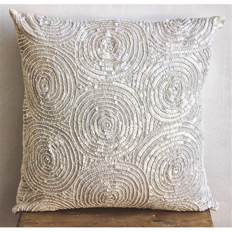 Designer Sofa Pillows Designer Ivory Pillow Covers 16x16 Silk Throw