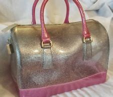 Furla Jelly 2 Tone clear catalog pocket consultant tote bag purse plan