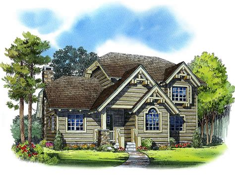 handsome mountain house plan 11525kn architectural