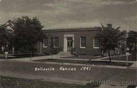 united states post office belleville ks postcard