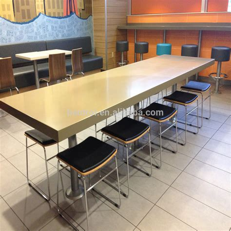 acrylic solid surface material restaurant table artificial