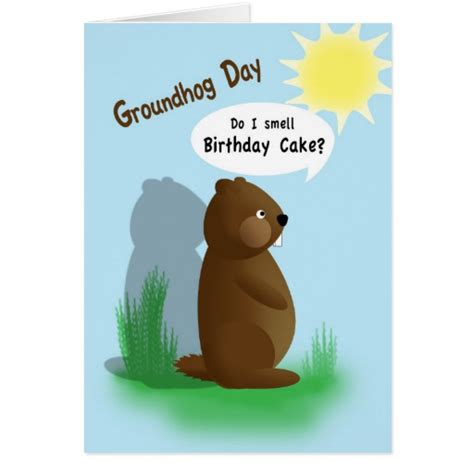 groundhog day gifts groundhog day birthday card zazzle