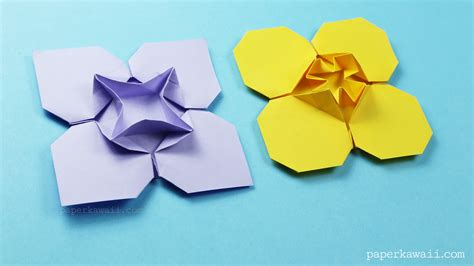 Origami List Of Things - origami clover flower paper kawaii