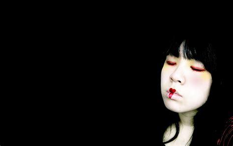 imagenes emo blanco y negro una chica emo fondo negro hd 2560x1600 imagenes