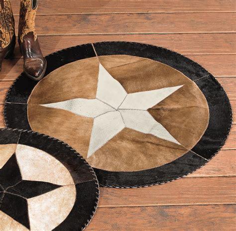Southwest Rugs 48 Inch Star Cowhide Rug Lone Star Western 48 Inch Rug