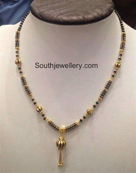 gold black chains models black mangalsutra chain models jewellery designs