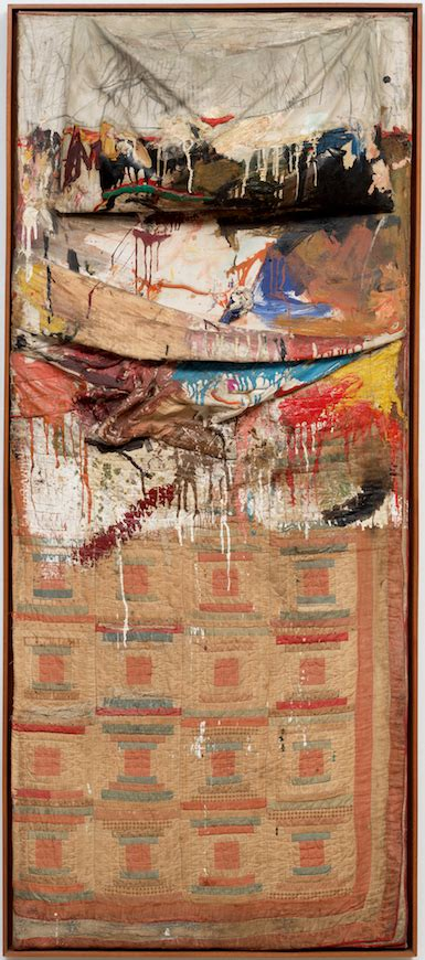 rauschenberg bed from the archives robert rauschenberg paints a picture in 1963 artnews