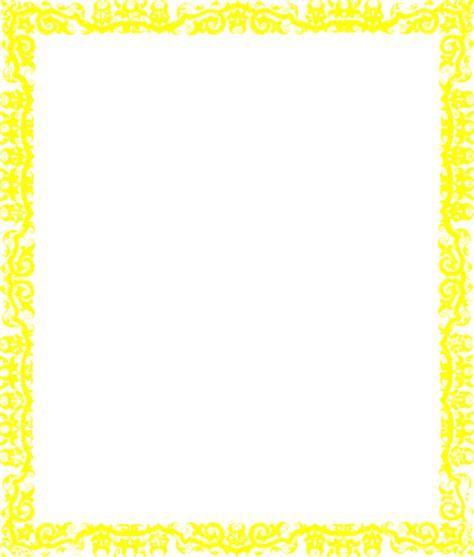 yellow border clip art at clker com vector clip art