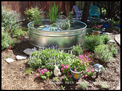Stock Tank Garden by Garden Path Wanderings Stock Tank Water Garden Is In