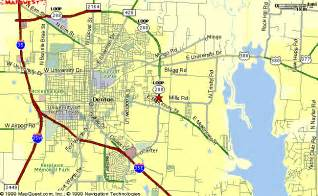 map of denton denton map