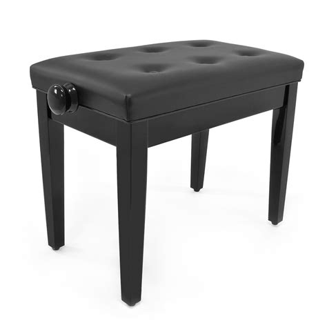 Piano With Stool by Deluxe Piano Stool By Gear4music Gloss Black At