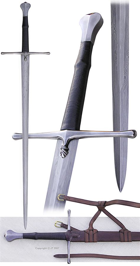 pattern welding swords quot longsword with pattern welded blade a scaled down