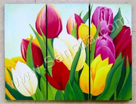 Bunga Set Is p3 32 lukisan minimalis set bunga tulip www lukisan