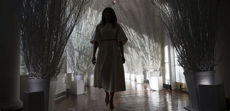 trump white house decor melania trump trolled with lingering dread and creepy