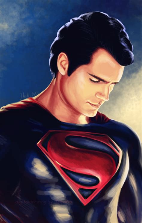 superman painting of steel henry cavill by tomsgg on deviantart