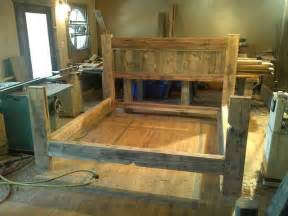 Bed Frame Wood Plans Reclaimed Wood Bed Frame Diy 187 Woodworktips