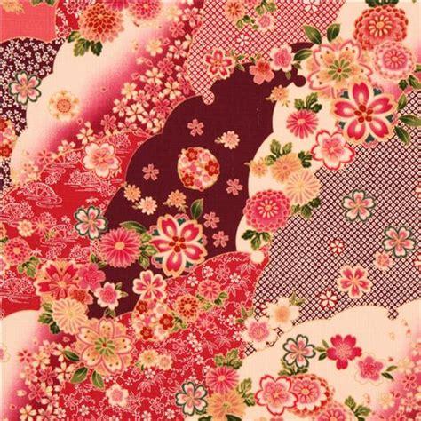 Cotton Upholstery Tela Japonesa Con Textura Flor De Cerezo De Cosmo Telas