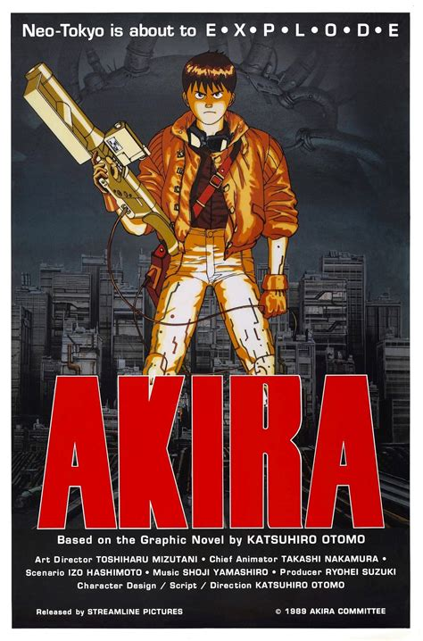 film anime the geeky nerfherder movie poster art akira 1988