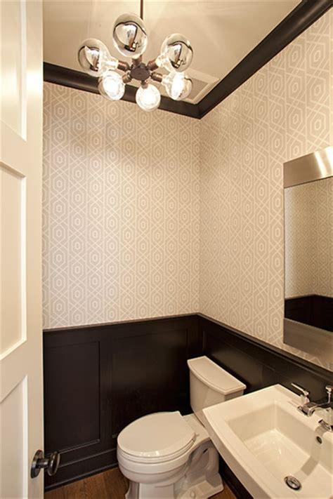 Black Wainscoting Bathroom Black Wainscoting Contemporary Bathroom Studio M
