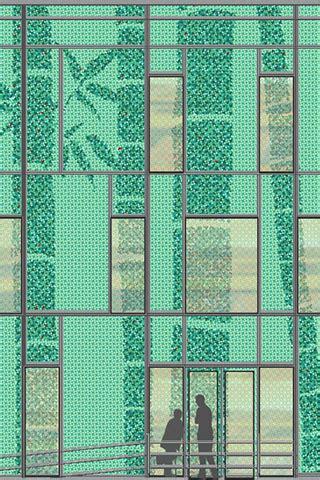 tapeten frankfurt gaedke tapeten glasfassade bgu frankfurt