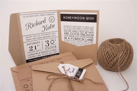 Wedding Invitation Packs modern typography pocket fold wedding invitation pack