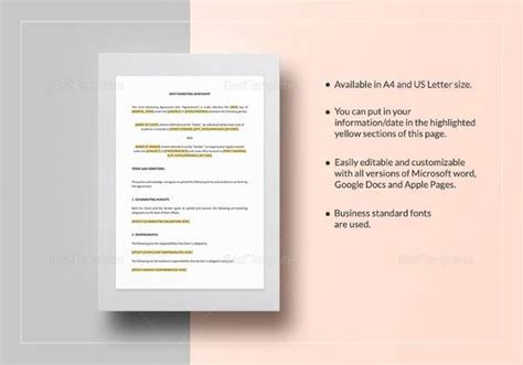 joint marketing agreement template 19 sle marketing agreement templates to