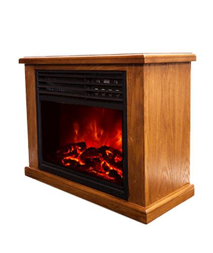 lifesmart pro compact infrared fireplace with 17 quot insert