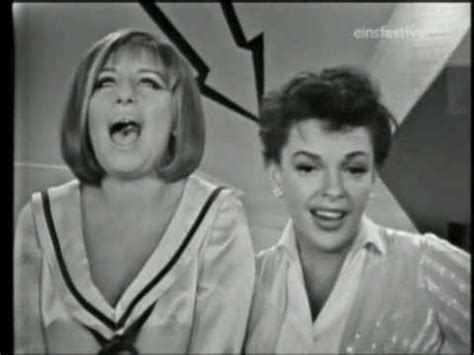 barbra streisand on judy garland judy garland barbra streisand october 1963 youtube