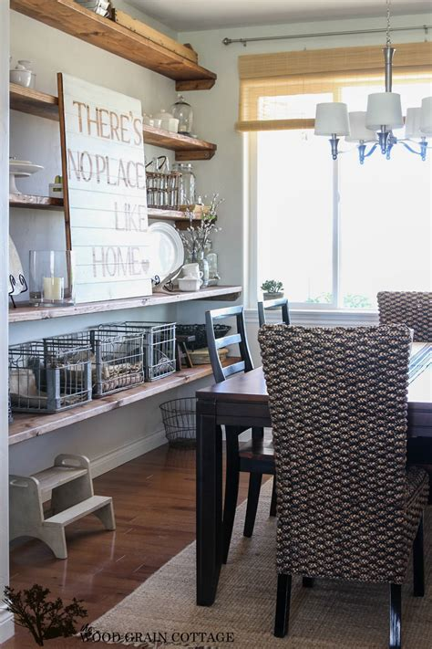 Dining Room Light Fixtures Ideas styled dining room shelving the wood grain cottage
