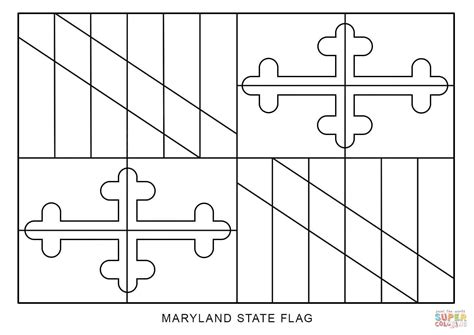 flag of maryland coloring page free printable coloring pages