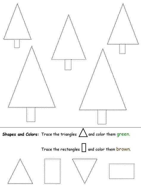 shapes recognition practice worksheet figury pinterest