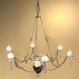 Candle Chandelier Non Electric Pillar Candle Chandelier Chandelier Swith Pertaining To