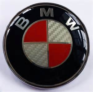 82mm bmw trunk roundel emblem silver carbon fiber