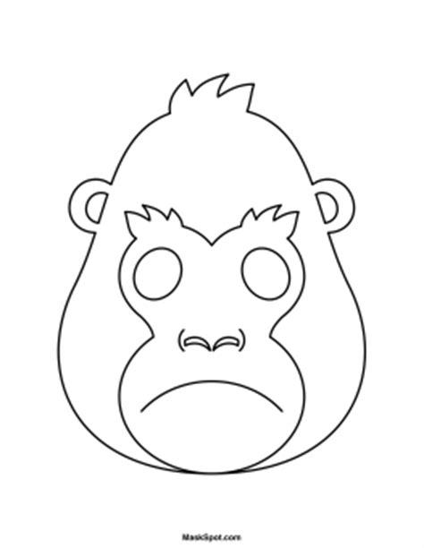 printable gorilla mask free printable gorilla mask
