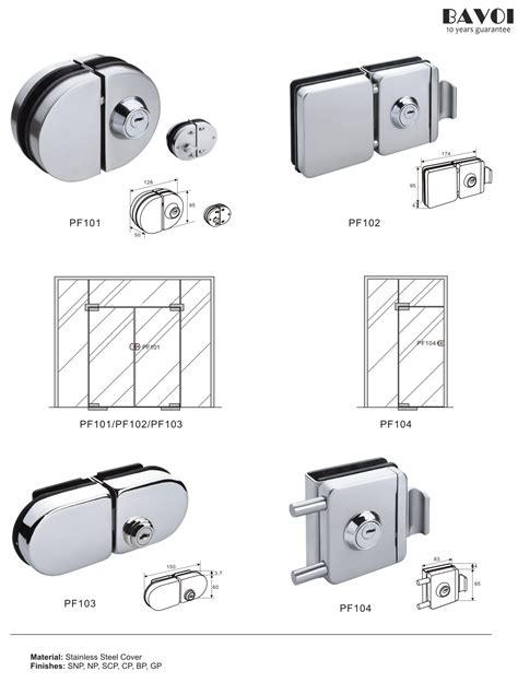 Glass Shower Door Locks Wade Stainless Steel Glass Door Lock Manufacturer Pf101 102 103 104