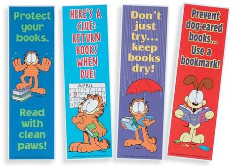 printable garfield bookmarks 1000 images about book care on pinterest chapter books