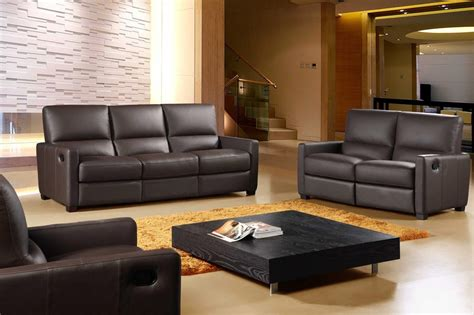 recliner and sofa set 641 full italian leather 3 piece reclining sofa set