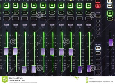 Mixer Audio Sound System sound mixer system with light royalty free stock images