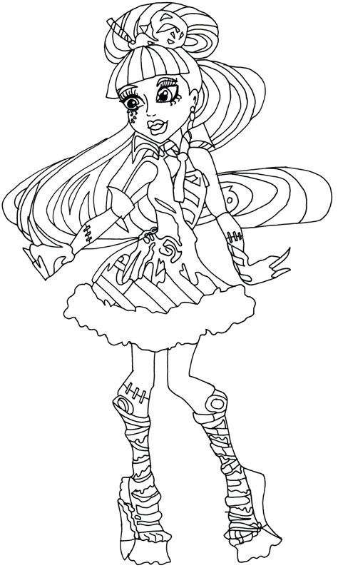 fun coloring pages monster high coloring pages games