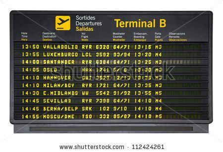 barcelona departures barcelona international airport departures board isolated