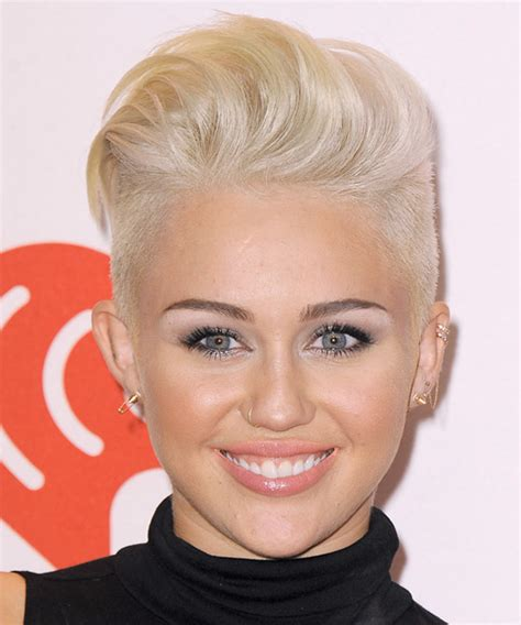 the name of mileys haircut miley cyrus short spiked punk miley cyrus short straight alternative hairstyle light