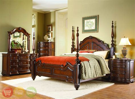 Traditional Bedroom Furniture Sets | prenzo traditional design poster bedroom furniture set free shipping shopfactorydirect com