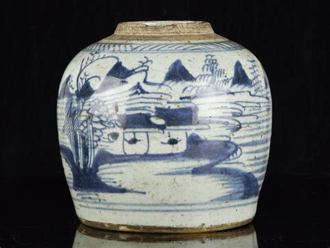 chinese ginger jars c1630 late ming chinese blue and white stoneware ginger