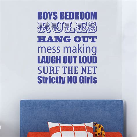 wall stickers boys bedroom boys bedroom wall sticker by nutmeg