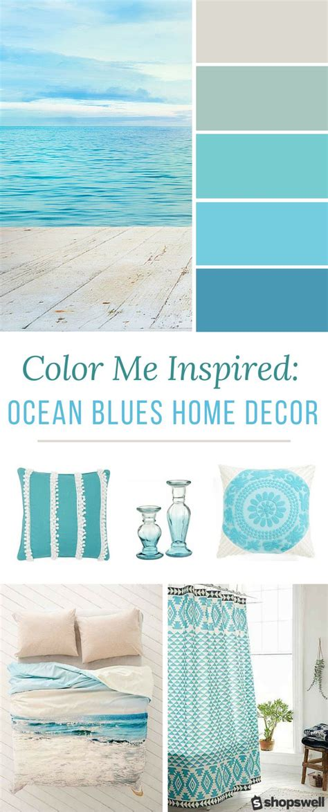 ocean decorations for home color me inspired ocean blues home decor inspiration