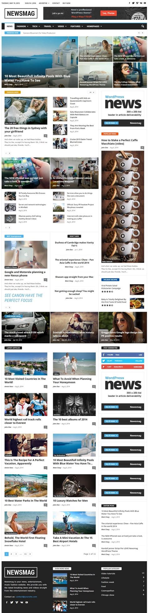 themeforest newsmag 20 best responsive magazine and newspaper style wordpress