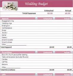 Wedding Planner Budget Template Wedding Budget Wedding Budget List A2zweddingcards