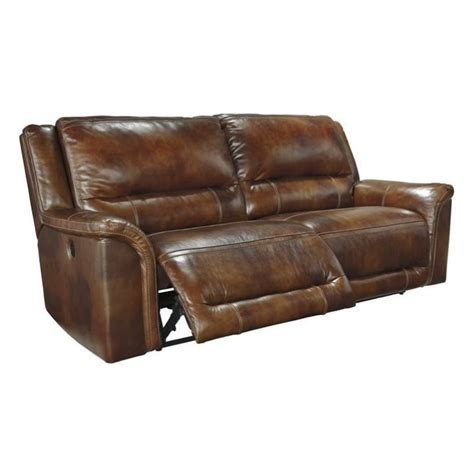 Ashley Jayron Leather 2 Seat Power Reclining Sofa In 2 Seat Leather Reclining Sofa