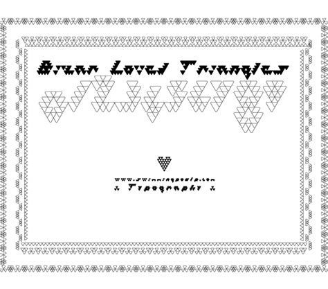 dafont you are loved bizar loved triangles font dafont com