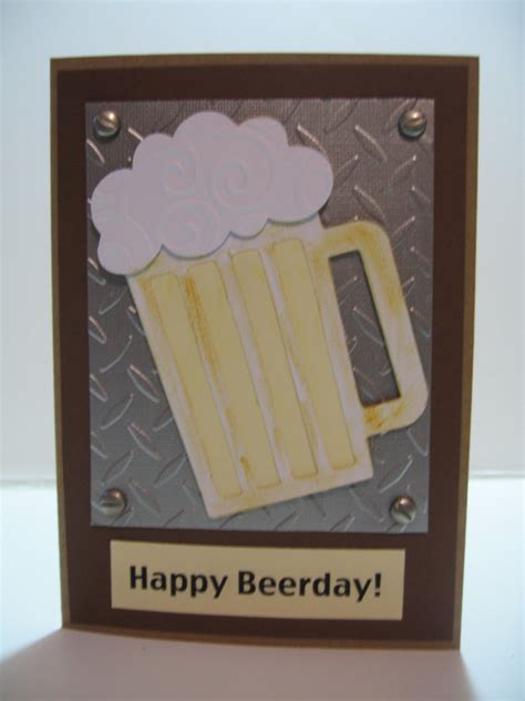 Handmade Birthday Cards For Guys - handmade birthday cards for guys metal look happy